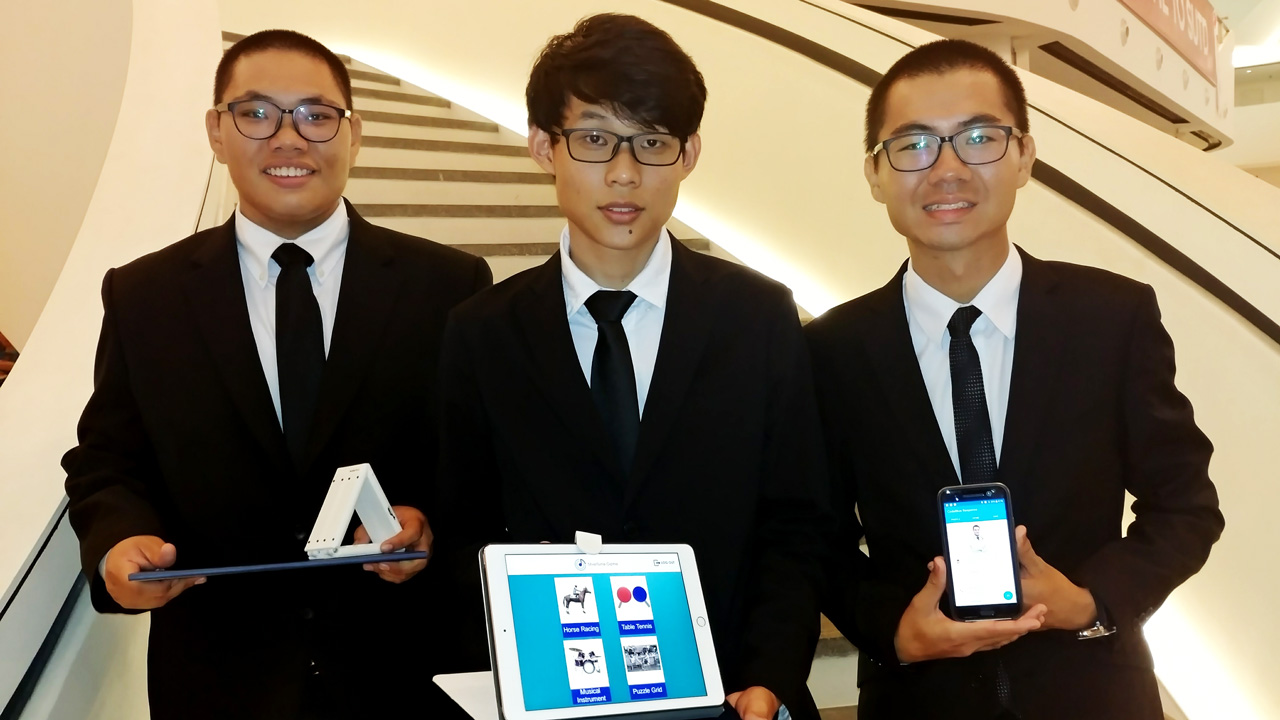Congrats to our students (from left to right) Loh Wan Loong, Lloyd Goh and Lim Kok Fong who received their awards at the MOE Special Awards Presentation Ceremony yesterday at Singapore University of Technology and Design.