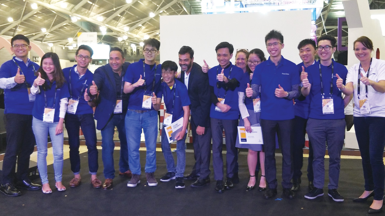 Making us proud are Aaron Loke (fifth from left), Bill Chan (second from right, in glasses)   and Arvin Ong (seventh from right).