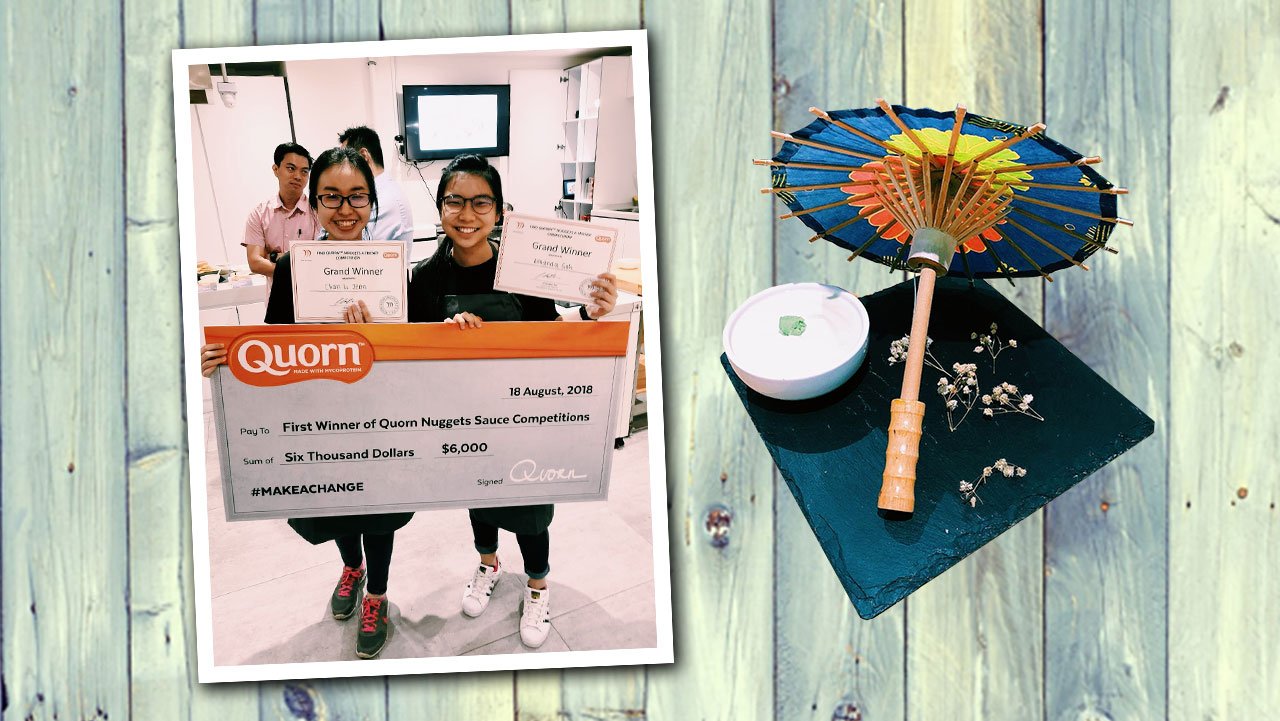 "It was a clean sweep for NYP! Three teams comprising students from the Diploma in Food Science & Nutrition won all podium spots at the recently-concluded ""Find Quorn Nugget A Friend"" sauce-making competition."