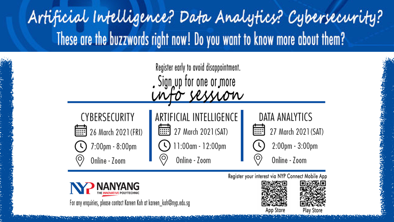 Info Session on Artificial Intelligence/Cybersecurity/Data Analytics