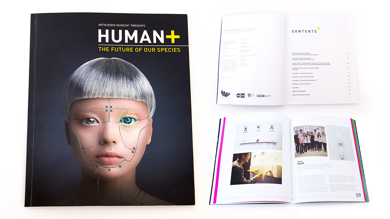TEASE featured in the book catalogue for HUMAN+: The Future of Our Species