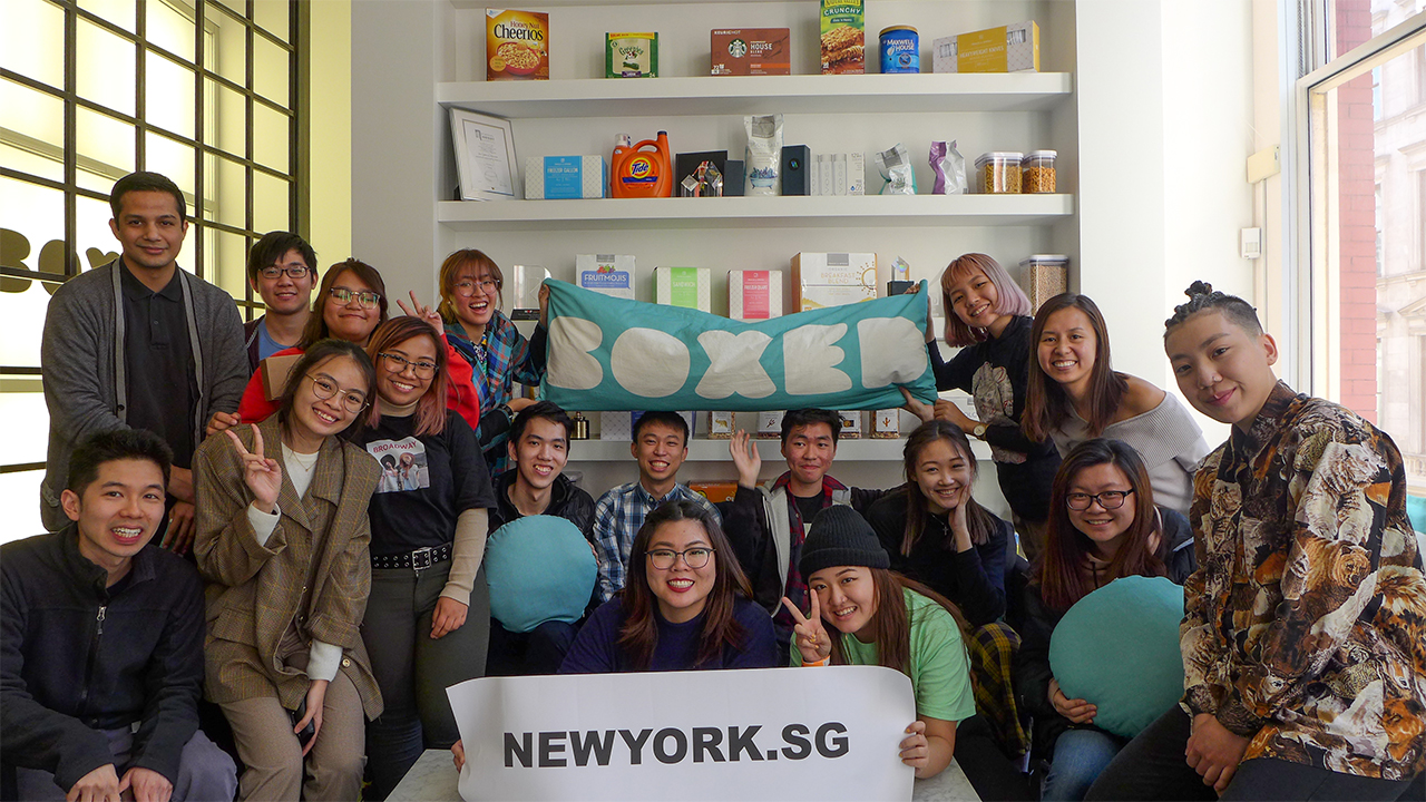 NY.SG Participants at BOXED!