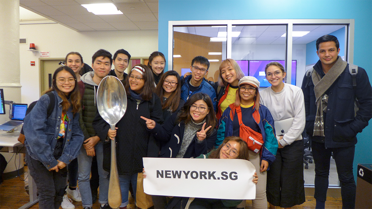 NY.SG Participants at SPOON UNIVERSITY!